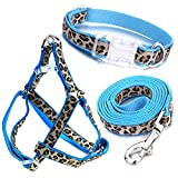 Mile High Life Hundehalsband, Geschirr und Leine, Leoparden-Design, perfektes Accessoire für Spaziergänge mit Ihrem Hund