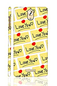 SRS Sticky Love You 3D Back Cover for Coolpad Mega 2.5D