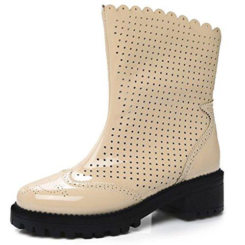 700d83ee095d6c COOLCEPT Mode-Event Damen Freizeit Sommer-Schuhe Party Stiefeletten  cut-outs Flach Schuhe