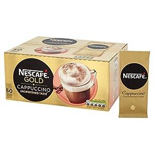 NESCAFÉ GOLD Senza Zucchero Cappuccino Bustine, Box di 50