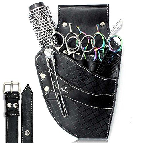 Friseur Schere Tasche von Kassaki schwarz diamond–Werkzeug-Gürteltasche Limited Edition