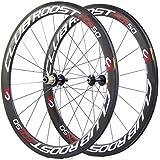 Club Roost FCR50 - Full Carbon road wheels/rims compatible with shimano and sram 10/11 speed / Ruedas/llantas bicicleta carretera de fibra de carbono comnpleto, compatible con shimano y sram de 10/11 marchas