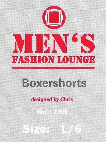 Men's Fashion Lounge Herren Boxershorts 'UOMO', 3, 6, 12 oder 24 Retroshorts in den Farben schwarz, marine und grau - Größen 5/M - 9/3XL schwarz/6er Pack