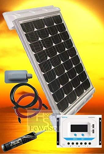 PV Inselanlage A-12V100WP PV Bausatz mit Dachbefestigung Solaranlage Wohnwagen