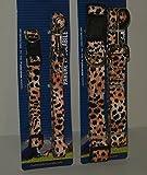 Hundehalsband mit Leine in Leopardenmuster ,25 - 40 cm