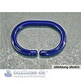 Duschvorhangring 12 Stück oval offen blau Duschring Duschvorhang-Ring Halter