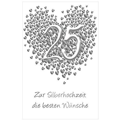 Susy Card 40023137 Glückwunschkarte Silberhochzeit, Motiv: Herz aus Herzchen