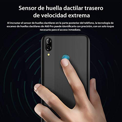 Blackview A60 pro (2019) 4G Mobile Phone, Android 9.0 6.1 Waterdrop Screen Dual SIM Smartphone, Helio A22 Quad-Core 2.0GHz 3GB + 16GB, 4080mAh Battery, Face ID Unlock Blue Img 1 Zoom
