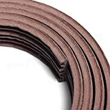 6 meter E type Small gap 2 mm - 3.5 mm Self Adhesive Weather Strip Seal Door Window Fitting Brown