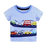 OSYARD Unisex's Shirt, Summer Infant Baby Kids Boys Girls T Shirts Cartoon Print T Shirts Tops Outfits Clothing