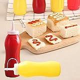 Somedays - 2 dispensadores de botellas de 250 ml de plástico para salsa de aceite, vinagre, chup y mostaza, dispensador de botellas de condimentos apretando botellas de condimentos con tapas para barbacoa