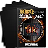 【5pack】BBQ Grill Mat , Magic Non Stick and Easy to Clean ,Heavy Duty- Reusable BBQ Grilling Mats-for Charcoal ,Gas or Electric Grills Accessories FDA-Approbed (5)