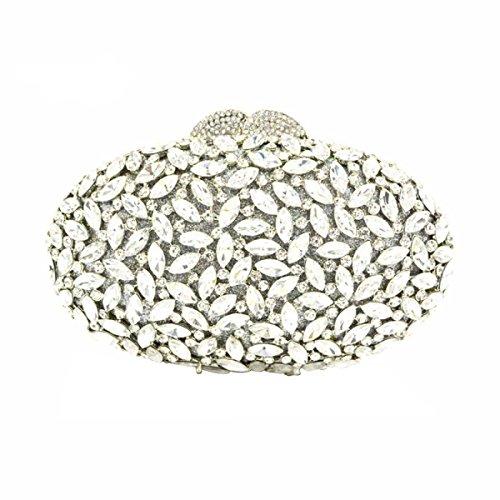 Borsa Di Modo Borsa Da Sera Di Lusso Del Diamante Delle Donne Silver