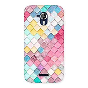 Delighted Rock Pattern Multicolor Back Case Cover for Micromax Canvas Magnus A117