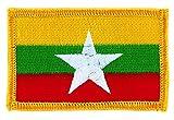 Patch écusson brodé drapeau birmanie myanmar nouveau thermocollant backpack