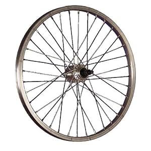 Taylor Wheels 20 pouces roue arrière vélo pour roue libre à vis 406-19 argent