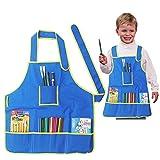 Kinder Malerei Schürze Wasserdicht Malschürze mit Taschen