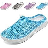 welltree Clog Pantoffeln Frauen Sommer Loch Sandalen, zu Fuß, Anti-Slip Beach Wasser Schuhe Blue 36 EU
