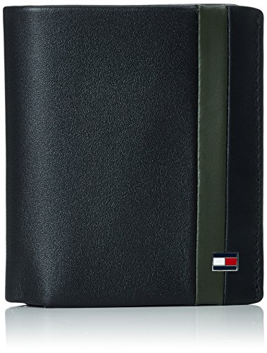 TOMMY HILFIGER Color Block N/S Trifold Black/Coffee Bean/Rosin