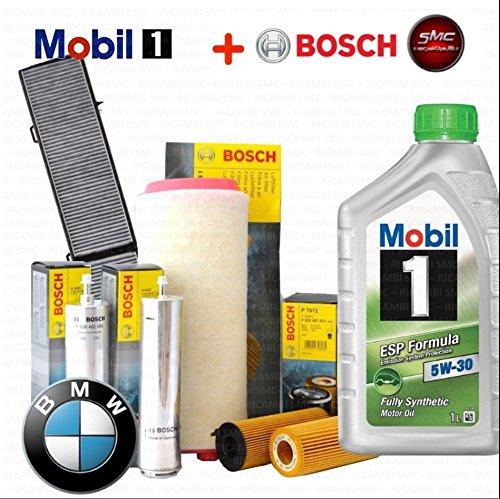 Inspektionskit Öl Mobil 1 ESP 5 W30 + 4 Filter Bosch (1457429119, 1457431708, 1457433588, 1987432336) (997 öl Filter)
