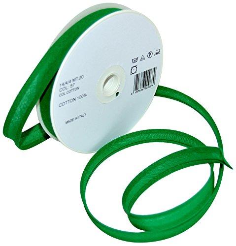 Inastri 14/4/4 mm Baumwollschrägband, grün 57
