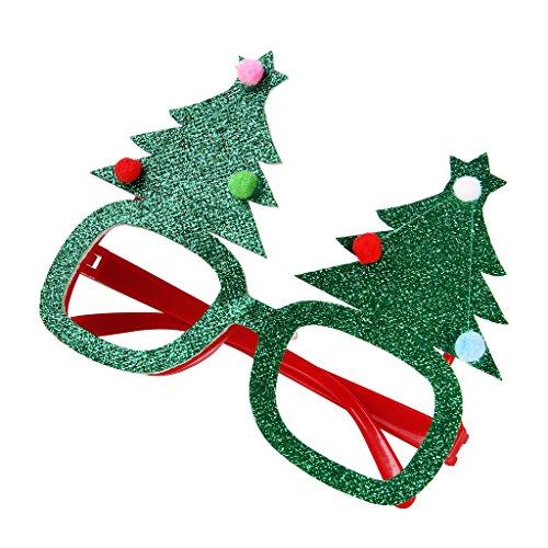 Sharplace Weihnachten Auge Gläser Party Plastik Kostüm Brillen für Weihnachten - Weihnachtsbaum