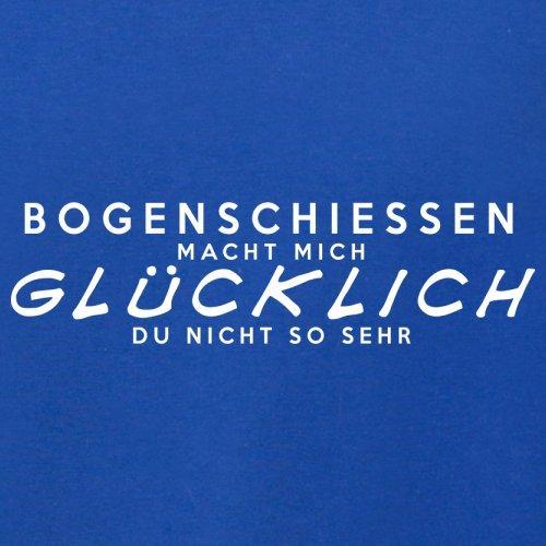 Bogenschiessen macht mich glücklich - Unisex Pullover/Sweatshirt - 8 Farben Royalblau