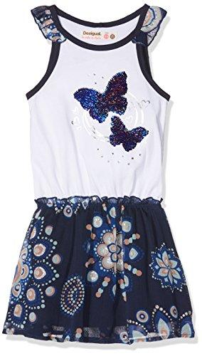 Desigual Mädchen Vest_MOGADISCIO Kleid, Blau (Navy 5000), 104 (Herstellergröße: 3/4) (Navy Kinder Kleid)