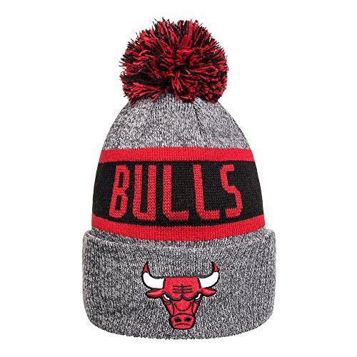 New Era Caps Berretto A Pom Pom Chicago Bulls Marl Bobble (Grigio Rosso) 2c5a29be12ee