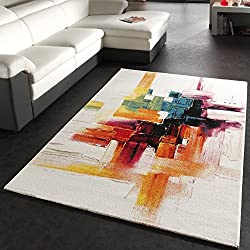 Alfombra Moderna Splash Diseño Cepillo De Colores (Varias medidas) 240 x 330 cm