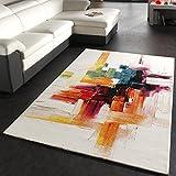 Paco Home Tapis Moderne Splash De Marque Coloré Brosse Neuf EO, Dimension:160x230 cm