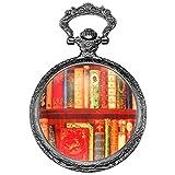 KS Reloj de Bolsillo con Cadena Hombre Mujer Vintage Colgante Cuarzo analógico KSP094