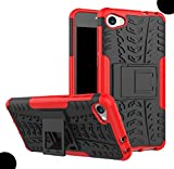 WEIFA Alcatel POP4S Foldable Stand Case, Very Light Slim Car Tire Pattern Style, 2018 Newest Super Cool Anti-Drop Protection Armor CellPhone Cover Case For Alcatel POP 4S Red
