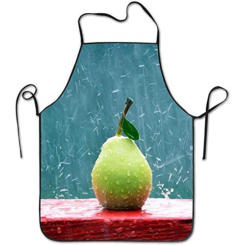 Green Apron Pears Rain Funny Cooking Apron for Men Women - BBQ Grill Kitchen Chef Barbecue Gifts, One Size Fits Most (Rain Mann Kostüm)