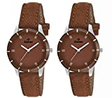 Gionee Set of 2 Analog Brown Dial Watch For Girl's & Women's