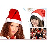 China 2x Christmas Holiday Party Santa Claus Velvet Hat Xmas Cap Gift Adult Unisex