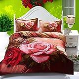 CELO Wind Tanz Schmetterling Heimtextilien Bettwäsche Quilt 4 Sätze 3D Rose Bett Auskleidungen 1 Duvet Cover 1 Flat Sheet 2 Sha