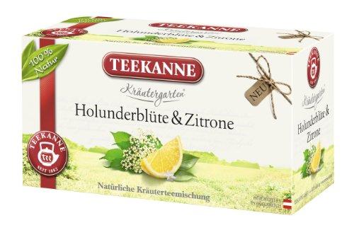 Teekanne Kräutergarten Holunderblüte & Zitrone 20 Beutel, 6er Pack (6 x 30 g)