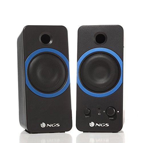 NGS GSX-200 Altavoz 20 W Black - Altavoces 2.0 Channels