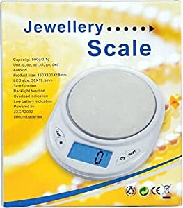 Skywalk Digital Jewellery / Kitchen Weighing Scale - 500G/0.1G - With Blue Backlight Function