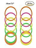RETON 20 Pcs Anelli di lancio in plastica multicolor per giochi di pratica di velocità e agilità (19cm)