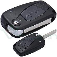 Carcasa dura para llaves, mando a distancia, 3 botones, plegable, para Fiat