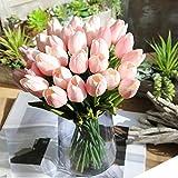LILICAT Blumen Künstlich Blumen und Pflanzen Unechte Blumen Gefälschte Blumen Tulpe Bouquet Blumenhochzeit Blumenstrauß Party Wohnkultur Blumenstrauß mit rosa Lilien (Rosa)