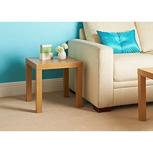 AJ Oak Effect Coffee Table Side End Table Telephone Table by AJ
