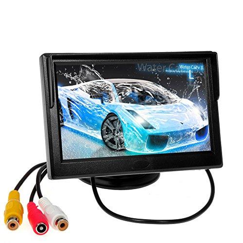 Visualizzare un LCD colori retroilluminato con 2 AV ingresso 5inch retrovisore Monitor auto per Inversione di Telecamere / Car DVD / Altre Apparecchiature monitor video
