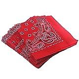 6c7b1429e5ab Trebien 12PCS Bandana Foulard Original Paisley Multicolore 100% Coton  Bandana Bandannas Fichu Mouchoir Echarpe Cadeau