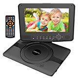 COOAU 12� Kids Portable DVD Player, 5 Hours Rechargeable Battery, 360� Swivel Screen, Remote Controller, Car Charger, Support TF Card/USB/Sync Screen/1080P Video Playback, Black