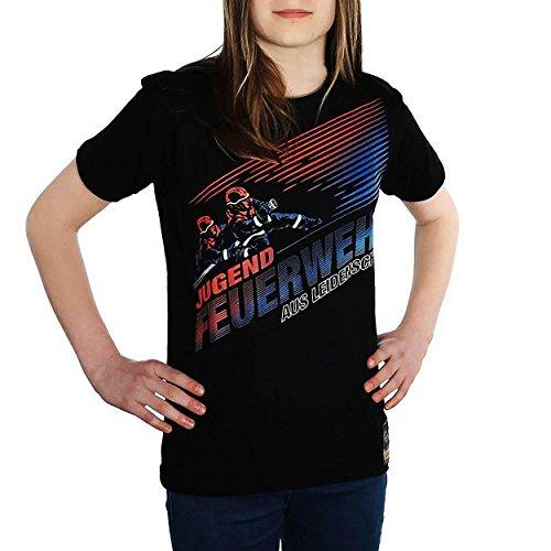 FIRE & FIGHT Streetwear® Aus Leidenschaft JUGENDFEUERWEHR T-Shirt, Größe:XXL (Drehen Shirt Geburtstag 5)