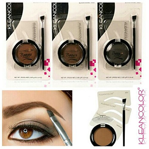 Brow Shaper Kit (Eyebrow stencil and powder make up set eyebrows essential kit shaping and defining the eyebrows (Black) by Kleancolour)