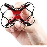 Virhuck GB202 Mini Quadcopter Drohne, 2,4 GHz, 6 AXIS GYRO, 3 Speed Mode, 3D Rotation, 360 Grad Eversion Quad Drone Mini RC Drone für Kind und Anfänger - Weiß, Schwarz, Rot